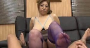 Ravishing asian fucked and jizzed on her large tits
