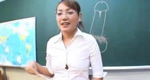 Classic JAV CFNM teacher handjob blowjob demonstration