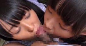 Rina เเละ Asami 2 สาวเเอบมานั่งโม๊คควย