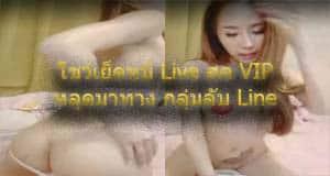 โชว์เย็ดหมี Live สด VIP หลุดมาทาง กลุ่มลับ Line